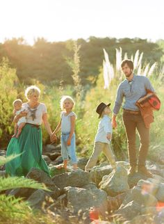 i dig everything about this family shoot; the styling, the light, the film...it is fabtastic.