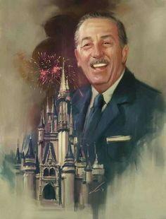 Walt Disney painting