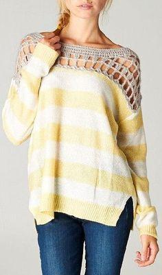 Gracie Crochet Pullover ♥