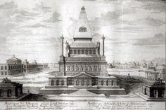 Fischer von Erlach's hypothetical reconstruction of the mausoleum of Halicarnassos