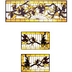 56.75 Inch W X 9.25 Inch H Jeweled Grape 3 Piece Stained Glass Window - Custom Made. 56.75 Inch W X 9.25 Inch H Jeweled Grape 3 Piece Stained Glass WindowRadiant Concord Purple jewels, Vineyard Green leaves and glistening dew kissed Bark Brown vines wrap arounda Golden Sunshine bands on a diamond grid of Clearseeded glass. Bring sunny vineyards to your own homewith this lovely Meyda Tiffany original stained glasscustom window set. Theme:  VICTORIAN TIFFANY FRUIT Product Family:  Jeweled…