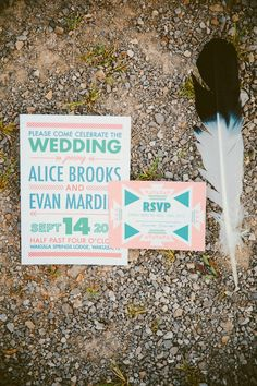 southwestern wedding invites // photo by Glass Jar Photography // http://ruffledblog.com/southwestern-meets-wes-anderson-inspiration