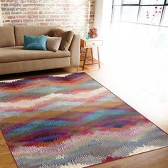 "Amazon.com: Rugshop Distressed Modern Geometric Soft Area Rug, 7'10"" x 10'2"", Multicolor: Kitchen & Dining"