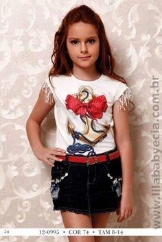 BLUSA Com SHORTS Saia Moda infantil Diforini 120995