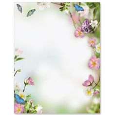 Butterfly Delight Letter Paper
