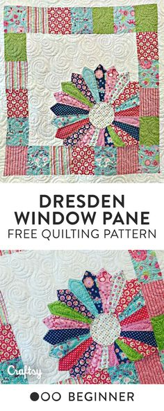 Dresden Window Pane Baby Free Quilt Pattern - Beginner