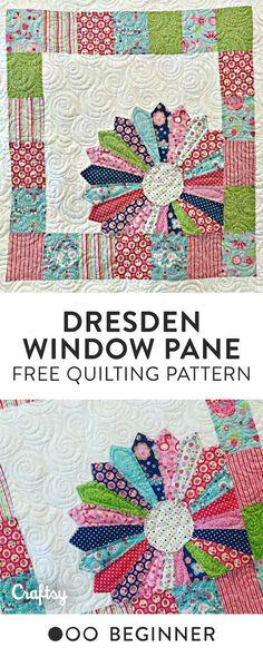 Dresden Window Pane Baby Free Quilt Pattern - Beginner