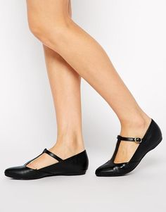 New Look Lupiter T-Bar Flat Shoes
