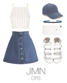 """to the fansing (bts)"" by mazera-kor on Polyvore featuring мода, Chicwish, Topshop, rag & bone, Kismet by Milka, bts и jimin"