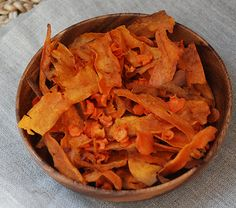 Cinnamon Spiced Sweet Potato and Carrot Chips