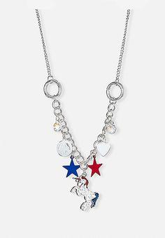 Americorn Charm Necklace | Justice