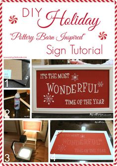 diy holiday sign pottery barn inspired easy inexpensive, chalk paint, crafts, painting, seasonal holiday decor, Finished step by step tutorial on the blog post Super easy and completed in one day