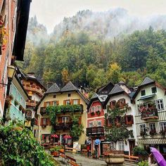 Hallstatt - Upper Austria, Austria - this looks beautiful- exactly as I imagine Austria to be like