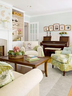 A Garden Inspired Living Room Makeover LayoutsLiving