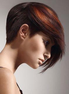 asymmetric hair style