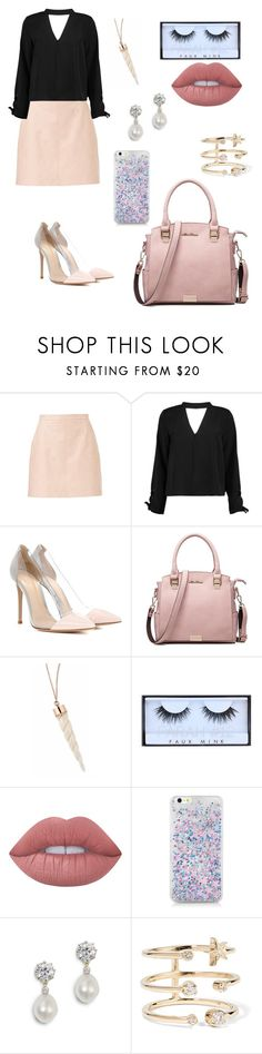 """Untitled #298"" by catarina-de-sousa-lopes on Polyvore featuring Boohoo, Gianvito Rossi, Huda Beauty, Lime Crime and Andrea Fohrman"