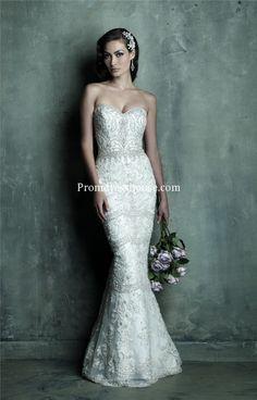 Natural Waist Luxurious Sweetheart Wedding Dress.  So pretty.