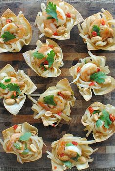 Shrimp Pad Thai Cups  made by @Beverly Weidner