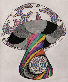 Hippie trip by sewer-pancake on deviantart hippie art рисунк Hippie Drawing, Hippie Painting, Trippy Painting, Painting & Drawing, Trippy Drawings, Psychedelic Drawings, Art Drawings Sketches, Trippy Hippie, Hippie Art