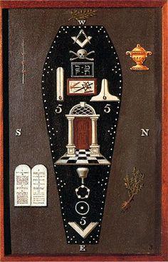 Freemasonry: #Masonic Symbolic Plate art chart trestle tracing board.: