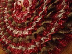 Ruffle Christmas tree skirt!