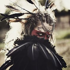 Mad Mary: Crow Art Print- the feathers would be a cool costume touch