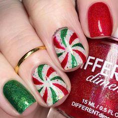 Christmas Gel Nails, Xmas Nail Art, Christmas Nail Art Designs, Holiday Nails, Seasonal Nails, Easy Christmas Nail Art, White Christmas, Holiday Acrylic Nails, Snowman Nail Art