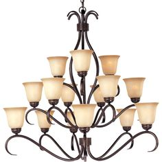 Maxim Lighting Basix 15-Light Chandelier & Reviews | Wayfair
