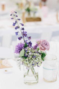 Sweet arrangement. Florist: Yvette Of The Piccadilly Flower Company. Photography: Mary Sylvia Photography - www.marysylvia.com/  Read More: http://www.stylemepretty.com/australia-weddings/2014/07/03/romantic-backyard-wedding/