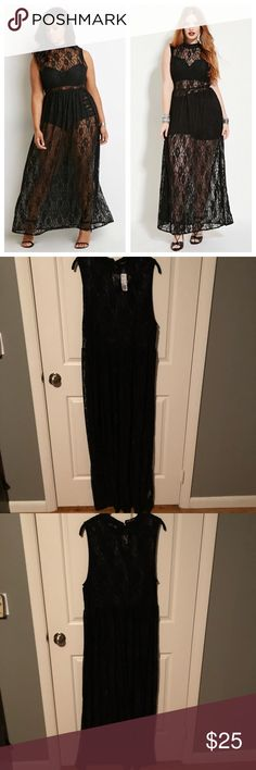 NWT Forever 21 Lace Maxi Dress Brand new, with tags. Black high neck full lace maxi dress. This is completely sheer. There is nothing that comes underneath. Wear it with a brackets underneath or as a swimsuit coverup! This is extremely rare and hard to find so my price is absolutely firm. All offers will be ignored! Gorgeous!!! Forever 21 Dresses Maxi