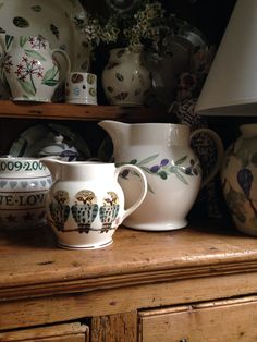 One of my favourite EB jugs Lara Pulver, Emma Bridgewater Pottery, English Country Cottages, Owl, English Pottery, Vintage Dishes, Tea Party, Quilt, Ceramics