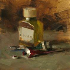 Alizarin and Viridian, painting by Qiang Huang [pronounced Chong Wong] (b1959; Beijing, China; based Austin, TX)