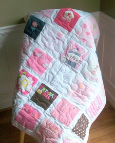 BABY CLOTHES Quilt Heirloom Memory Quilt Custom by warmnfuzzies, $148.00