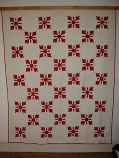Antique Red and White Applique quilt very nice by annhermes1, $415.00