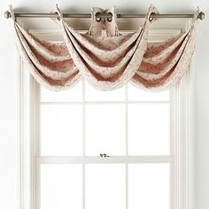 """*JCPenney Home Anza Grommet-Top Waterfall Valance 32/""""X24/"""" IVORY New"""