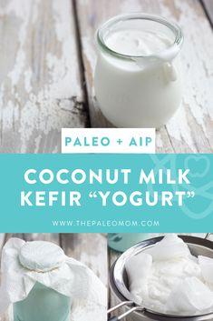 "Coconut Milk Kefir ""Yogurt"" ~ The Paleo Mom crafts crafts crafts para vender benefits recipes recipes how to make smoothie smoothie recipes crafts Coconut Kefir Recipes, Yogurt Recipes, Beer Recipes, Paleo Recipes, Kefir Yogurt, Coconut Milk Yogurt, Vegan Yogurt, Kefir Milk Benefits, Coconut Benefits"
