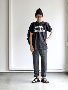 CHED チェド S/S PRINT T-SHIRTS -NEW YORK