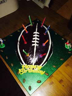 Rugby birthday cake #2