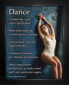 """Buy Dance Leaning 8"""" x 10"""" Sport Poster Print and motivate your dancer! Inspirational dance quotes make this the best gift for dancers. Shop Dance Gifts for Girls and Boys today. Made in the USA."""