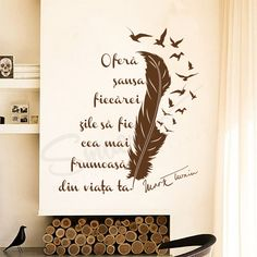 Mark Twain, Inspirational Wall Quotes, Beautiful Day, Wall Murals, Life Hacks, Stickers, Motivation, Home Decor, Wallpaper Murals