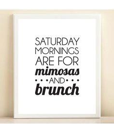 """Schwarz und weiß sind""""Samstagmorgen für Mimosen und Brunch"""" Bar Cart Collection print Poster - ORIGINAL zitieren"""