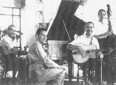 Django Reinhardt ,1945 Martinez night-club  Cannes.