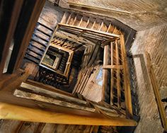 staircase in asinelli tower, bologna