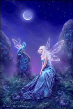 Although Titania's wings are fluffy, my envisioning of the character includes a luminescent illumination around the outermost part of the wings. Similar to this image.