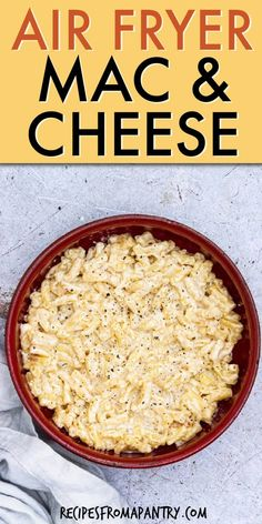 You have found easiest Air Fryer Mac and Cheese recipe you will ever make. This creamy, mouthwatering, homemade mac and cheese is a tasty comfort food dish that the whole family will enjoy! Air Fryer Recipes Wings, Air Fryer Recipes Vegan, Air Frier Recipes, Air Fryer Dinner Recipes, Air Fryer Healthy, Healthy Food, Yummy Food, Fried Mac And Cheese, Mac And Cheese Homemade