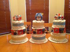 OKC Thunder NBA diaper cakes