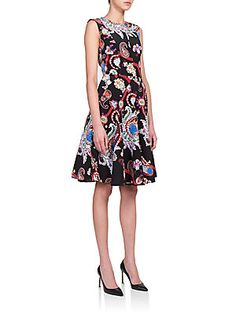 Mary Katrantzou Masson Digital Paisley-Print Dress