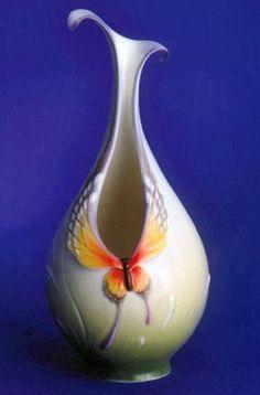 franz porcelain butterfly vase design