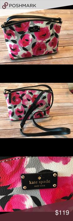 NWT Kate Spade grove street crossbody NWT Kate Spade Millie   • grove street printed  • Color 954 rose bed  • Floral print  • Zip closure  • Adjustable shoulder strap  • Small interior slip pocket  • $199 Retail kate spade Bags Crossbody Bags