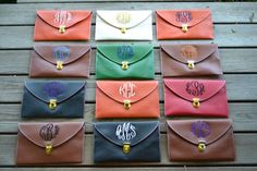 Christmas presents.monogrammed Crossbody Clutch by DrakesCorner on Etsy. via Etsy.